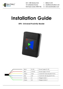 SRS UPR - Universal proximity reader - Installation Guide