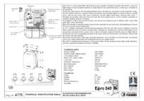 BPT Fadini Elpro 40S technical data