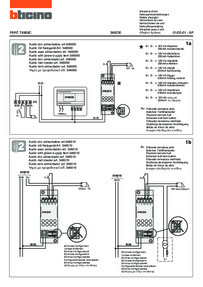 Bticino wiring diagram for 346230