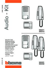 Bticino installation manual for 363222 & 363221