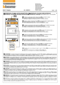 Bticino wiring diagram for 346810