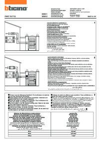 Bticino installation manual for 363811 & 363821