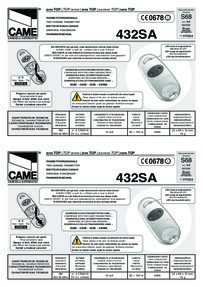 Came two-channel transmitter instructions manual