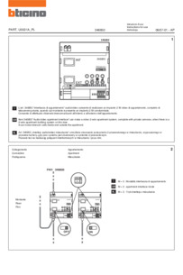 Bticino wiring diagram for 346850