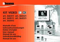 Bticino user manual for 368421