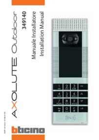 Bticino installation manual for 349140