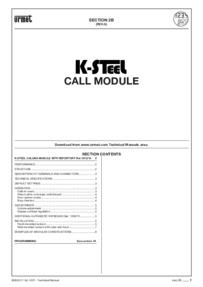 Urmet 1072/14 installation manual