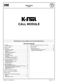 Urmet K-STEEL Digital Keypad Manual