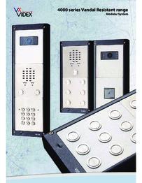 Videx 4000 Series Vandal Resistant Range