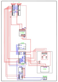 Videx Video (coax) system - 1 entrance, 1 button panel (VR 537 + 830) calling 2 monitors (901) in parallel.