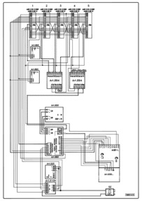 Videx Video (coax) system - 1 entrance, 1 button panel (837/1 + 830) calling 5 monitors (901) in parallel.