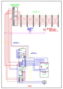 Videx Video (coax) system - 1 entrance, 1 button panel (837/1 + 830) calling 1 monitors (901) & 7 phones (928) in parallel.