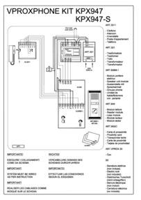 Videx 836M series Audio Wiring Diagram - 1 x Entrance (836M/1 + 849 proximity), 1 x phone (3011), 321 AC PSU