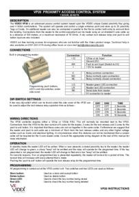 Videx Instruction Manual for VP20