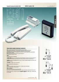Videx 4000 series - vandal resistant audio kits