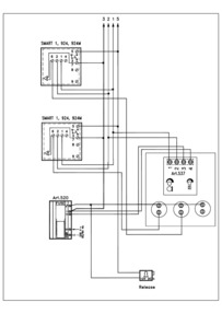 Videx 536 series VR Audio Wiring Diagram - 1 x VR Entrance, 3+ x phones (924, SMART1), 520 PSU