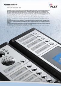 Videx VX series - Stand alone digital code locks