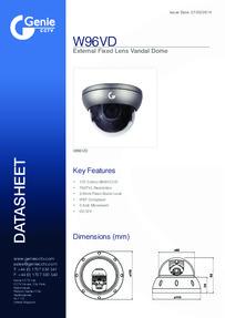 W96VD Camera data sheet