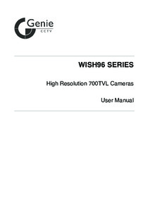 Wish96 Dome Camera Manual