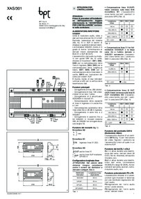 BPT installation instructions for XAS/301