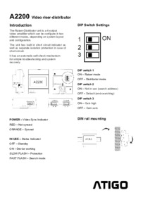 A2200 Instructions