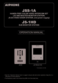Operation Manual Aiphone JS-1HD