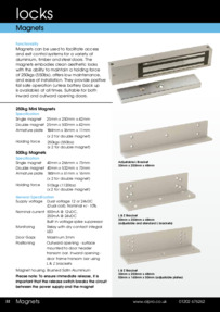 Alpro Standard Door Magnets Datasheet