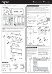 Alpro Transom Concealed Door Closer Instructions