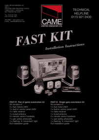 CAME FAST Installation Manual