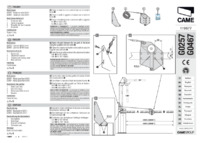 CAME G0257 Installation Guide