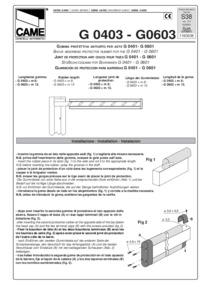 CAME G0603 Data Sheet