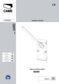 CAME G6500-G6501 Manual