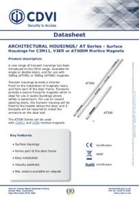 CDVI AT300 and AT500 Datasheet