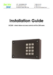 DC250 Installation Manual