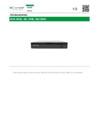 Comelit IPNVR008S08PBSL Datasheet
