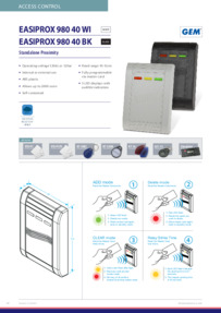 Easiprox 980 User guide