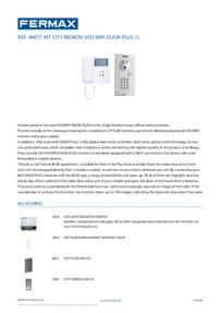 Fermax 49071 Datasheet