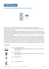 Fermax 49121 Datasheet