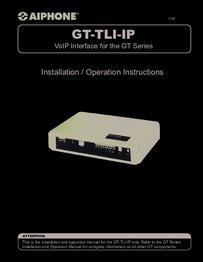 GT-TLI-IP Instructions