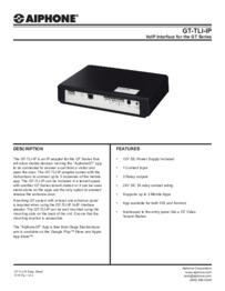 GT-TLI-IP Spec Sheet