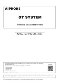GT Standard Expanded Installation Manual