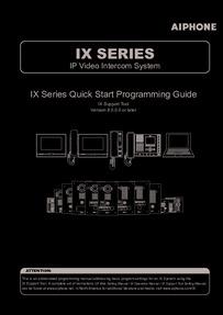 IX Series Quick-Start Guide