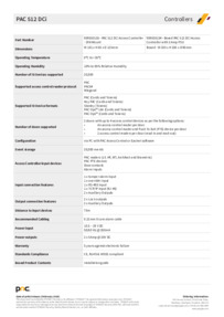 Data Sheet PAC 30154