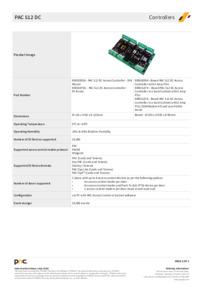 PAC 512DC Controller Data Sheet